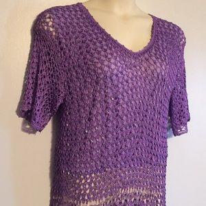 Tops - Crochet & Hand Beaded TOP Gorgeous!